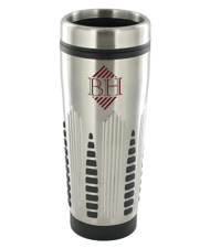 16 oz rocket stainless steel insulated travel mug - silver16 oz rocket stainless steel insulated travel mug - silver