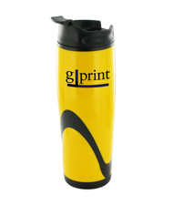14 oz tango travel mug - yellow