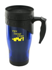 16 oz traveler insulated travel mug - blue
