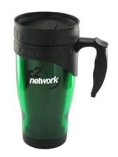 16 oz traveler insulated travel mug - green16 oz traveler insulated travel mug - green
