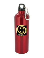 25 oz trek aluminum sports bottle - red