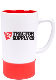 16 oz Red In White Matte Out Combo Mug with Red Silicone Sleeve16 oz Red In White Matte Out Combo Mug with Red Silicone Sleeve