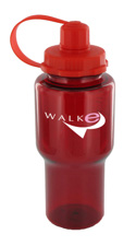 22 oz yukon polycarbonate bottle - red