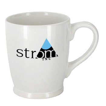 16 oz glossy kinzua coffee mugs - white