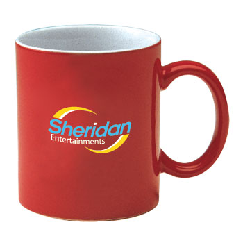 11 oz personalized coffee mug - red out