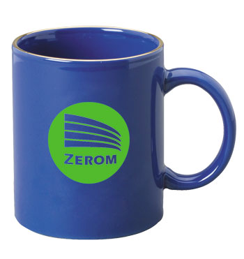 11 oz personalized coffee mug - midnight blue