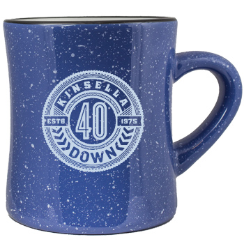 10 oz Santa Fe stoneware speckled diner mug - light blue