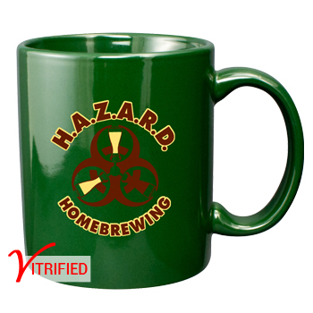 11 oz vitrified coffee mug - hunter green