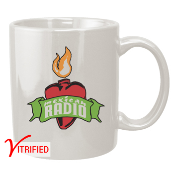 11 oz vitrified coffee mug - white