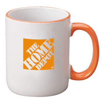 11 oz halo ceramic coffee mug - orange