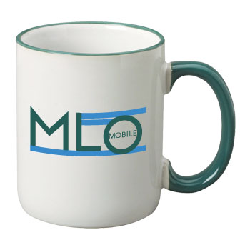 11 oz halo ceramic coffee mug - green
