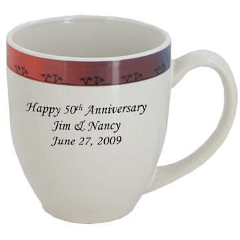 15 oz Personalized glossy bistro coffee mugs - Jamaica Palm