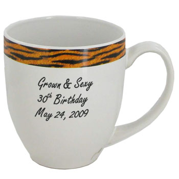 15 oz glossy custom bistro coffee mugs - Kenya Tiger