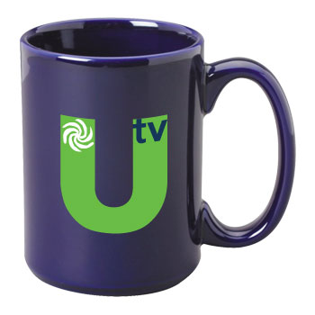 15 oz el grande promotional ceramic mug - cobalt blue