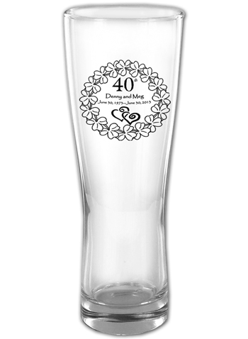 16 oz ARC Oslo personalized pilsner glass