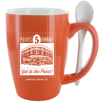 16 oz. Orange Ursa Endeavour Spoon Mug