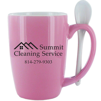 16 oz. Pink Ursa Endeavour Spoon Mug