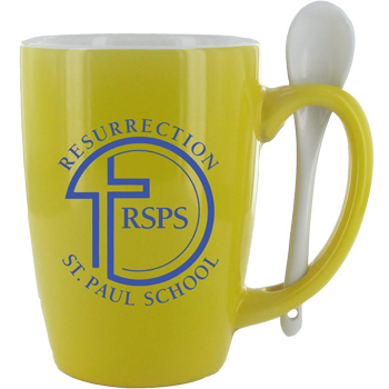 16 oz. Yellow Ursa Endeavour Spoon Mug