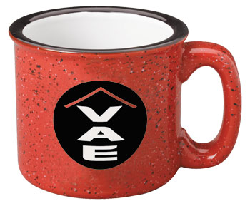 15 oz campfire stoneware RED Collection speckled mug