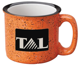 15 oz campfire stoneware speckled mug - terracotta out