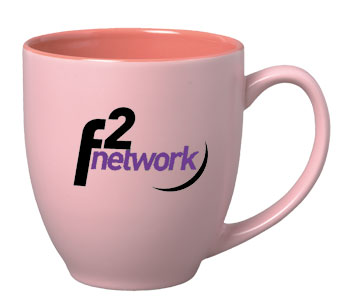 15 oz matte finish custom crafted bistro mug - pink