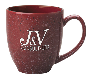 15 oz speckled new mexico customized bistro mug - burgundy