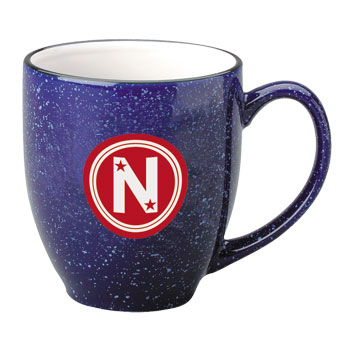 15 oz speckled new mexico custom crafted bistro mug - cobalt out