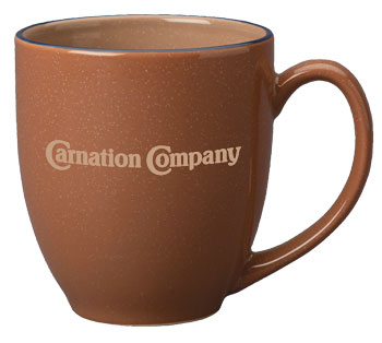 15 oz custom designed speckled bistro mug - chocolate