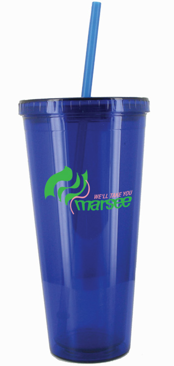 24 oz Custom Designed Royal Blue journey travel cup