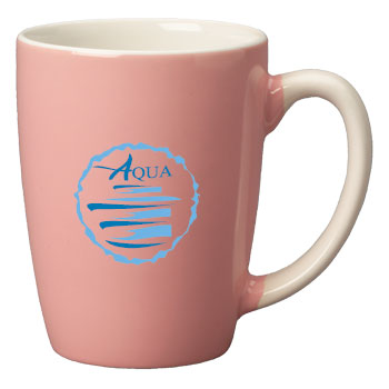 12.5 oz san diego pastel mug - pink out - white in