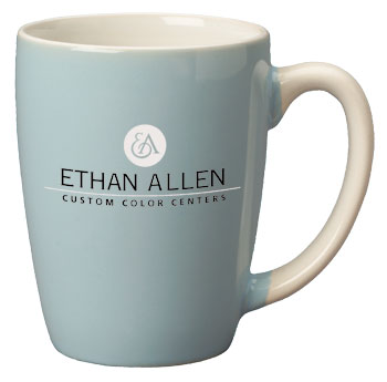 12.5 oz san diego pastel two tone mug - powder blue