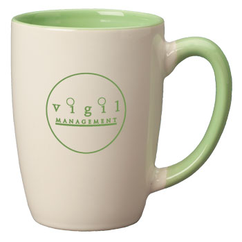 16 oz san diego challenger mug - mint green trim & in - white ou