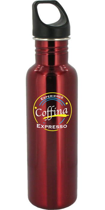 26 oz excursion stainless steel sports bottle - red