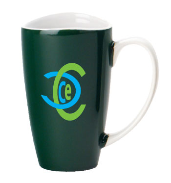 17 oz santa barbara wide mouth mug - green