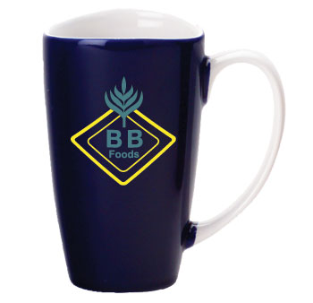17 oz santa barbara wide mouth mug - cobalt blue
