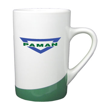12 oz beaverton color curve mug - green