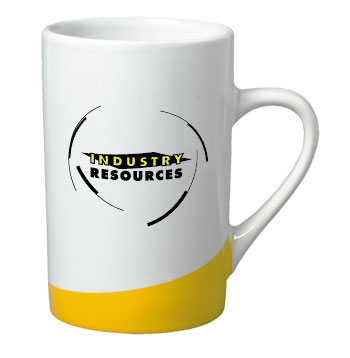 12 oz beaverton color curve mug - yellow