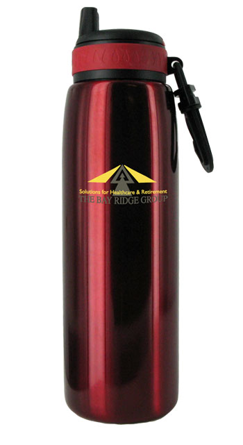 26 oz red quench stainless steel sports bottle