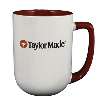 17 oz bakersfield coffee mug - maroon in & handle