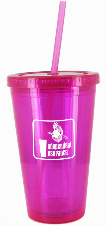 16 oz Promotional Magenta Journey travel cup