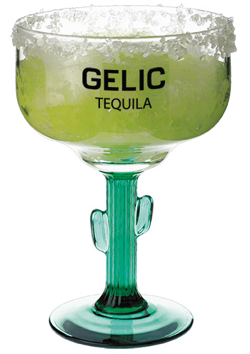 16 oz Libbey custom designed cactus margarita glass