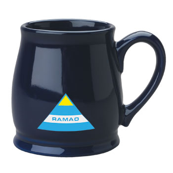 15 oz cobalt country style coffee cup
