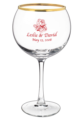 19.25 connoisseur wedding red wine glass