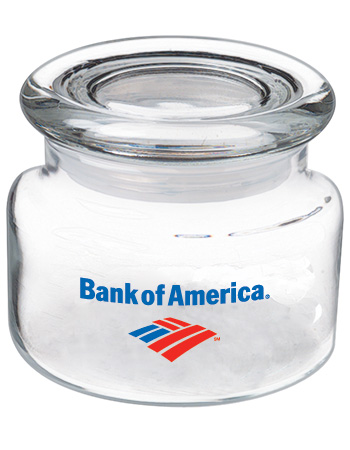 8 oz suburbia promotional glass candy jar