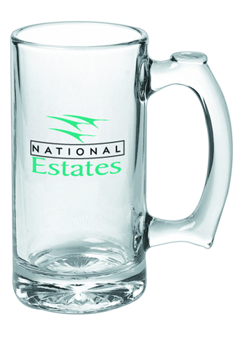 13 oz Libbey thumbprint beer Glass