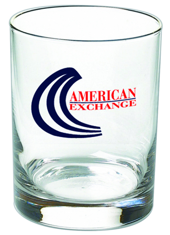 14 oz DOF promotion whiskey glass