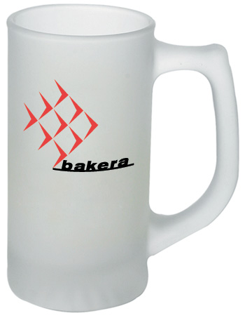13 oz sport frosted glass mug