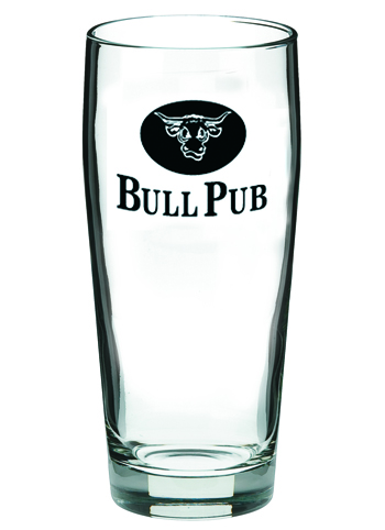 Custom Beer Glasses -16 oz willi becher