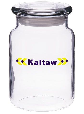 26 oz suburbia customized glass candy jar