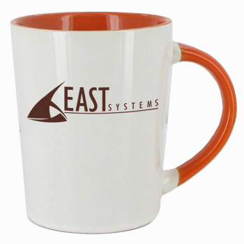 12 oz glossy sorrento coffee mugs - Orange